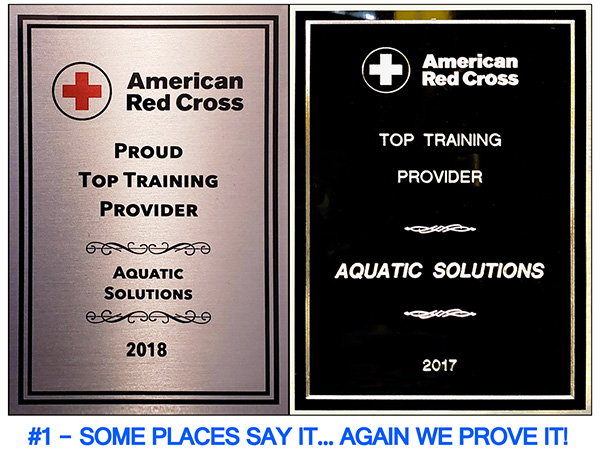 American Red Cross - Aquatic Solutions Award 2017 & 2018
